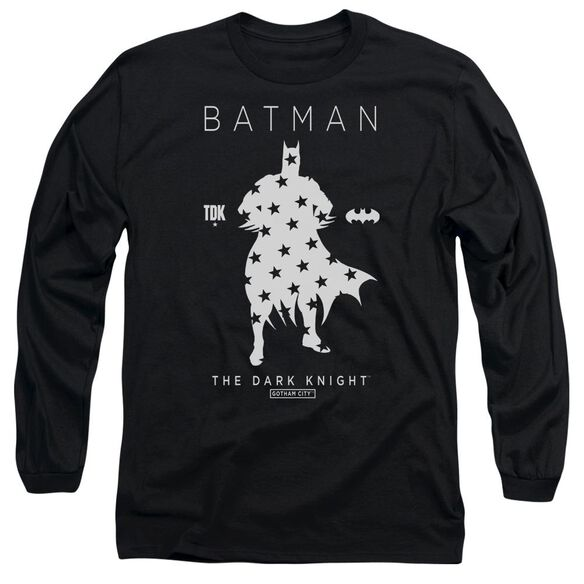 Batman Star Silhouette Long Sleeve Adult T-Shirt