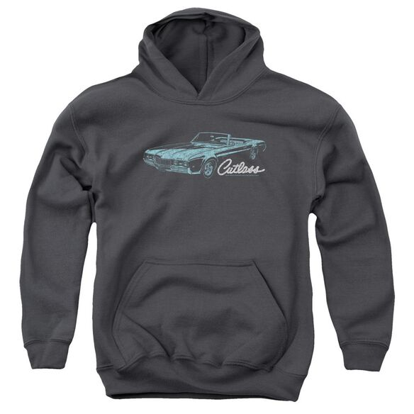 Oldsmobile 68 Cutlass Youth Pull Over Hoodie