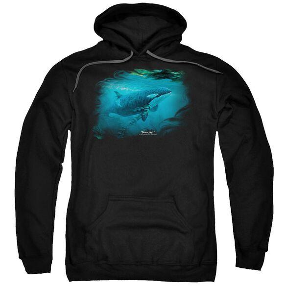 Wildlife Pursuit Thru The Kelp Orca Adult Pull Over Hoodie