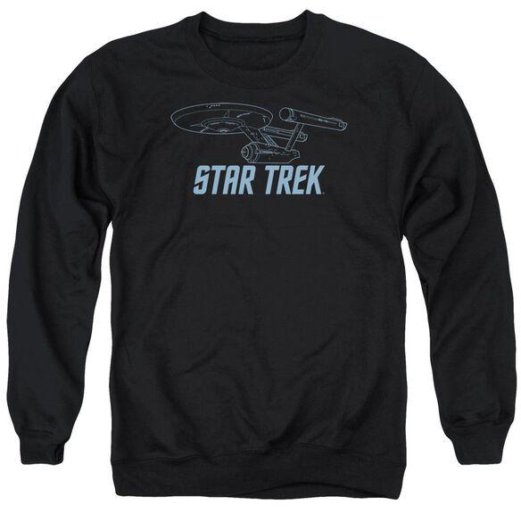 Star Trek Enterprise Outline Adult Crewneck Sweatshirt