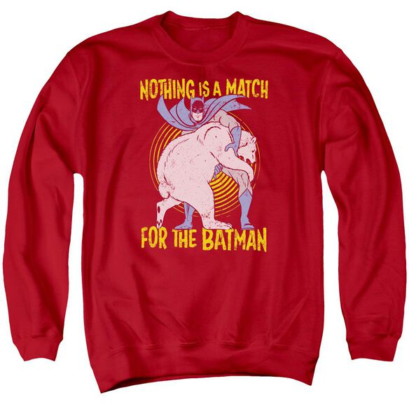 Batman Bear Wrastling Adult Crewneck Sweatshirt