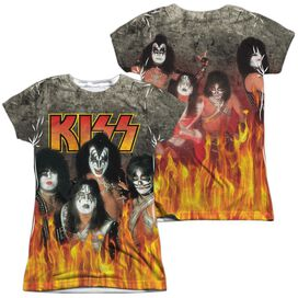 Kiss Through The Fire (Front Back Print) Short Sleeve Junior Poly Crew T-Shirt