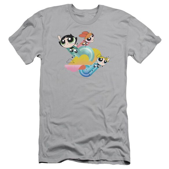 Powerpuff Girls Spiral Streaks Short Sleeve Adult T-Shirt