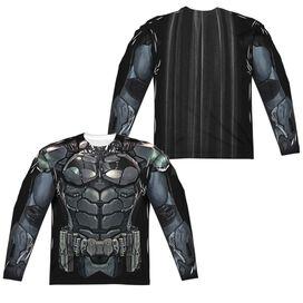Batman Arkham Knight Uniform (Front Back Print) Long Sleeve Adult Poly Crew T-Shirt