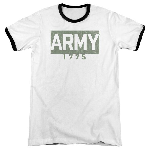 Army Block Adult Ringer White Black
