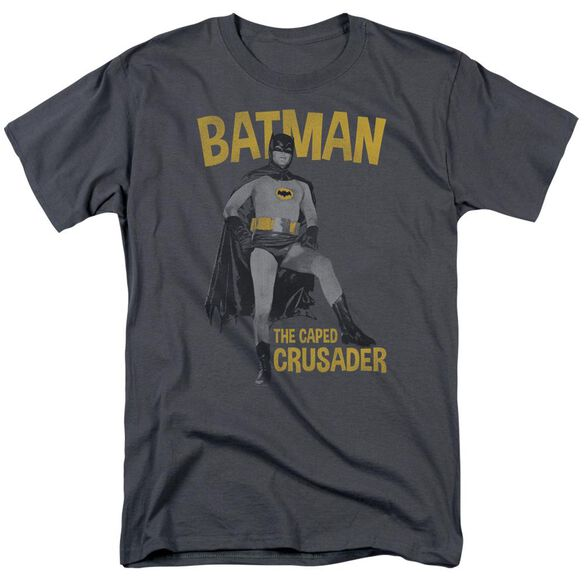 Batman Classic Tv Caped Crusader Short Sleeve Adult T-Shirt