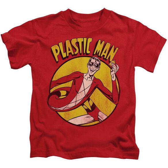 Dc Plastic Man Short Sleeve Juvenile Red T-Shirt