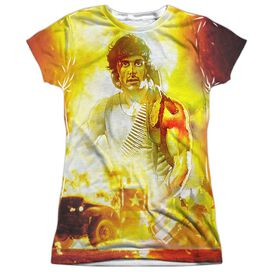 Rambo:First Blood One War Short Sleeve Junior Poly Crew T-Shirt