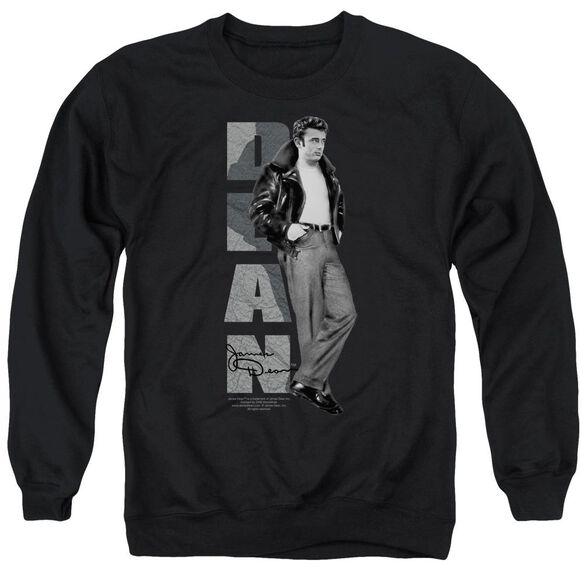 Dean Standing Leather Adult Crewneck Sweatshirt