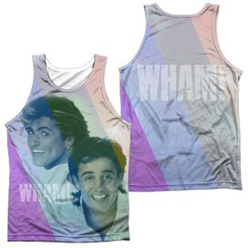 Wham Pastel Lines (Front Back Print) Adult Poly Tank Top