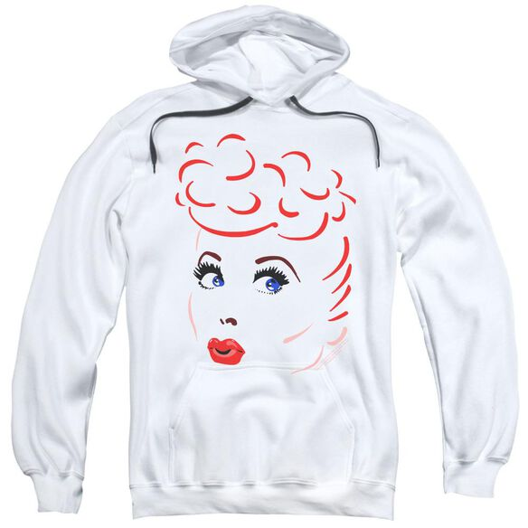 Lucy Lines Face Adult Pull Over Hoodie