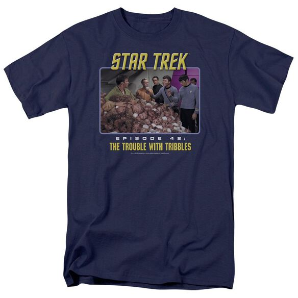 St:Original The Trouble With Tribbles Short Sleeve Adult T-Shirt