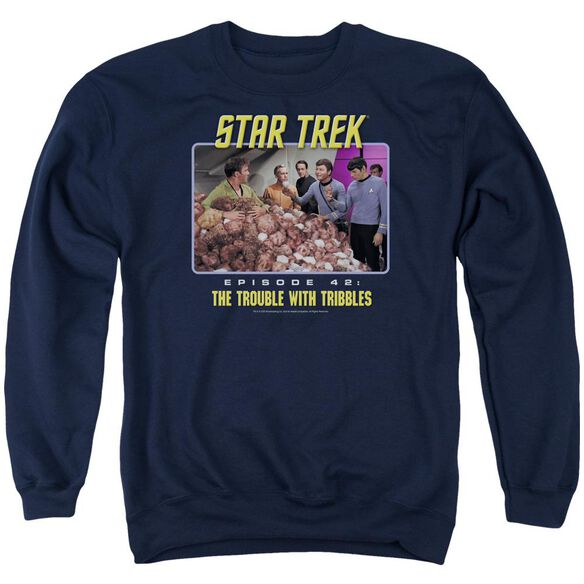 St:Original The Trouble With Tribbles Adult Crewneck Sweatshirt