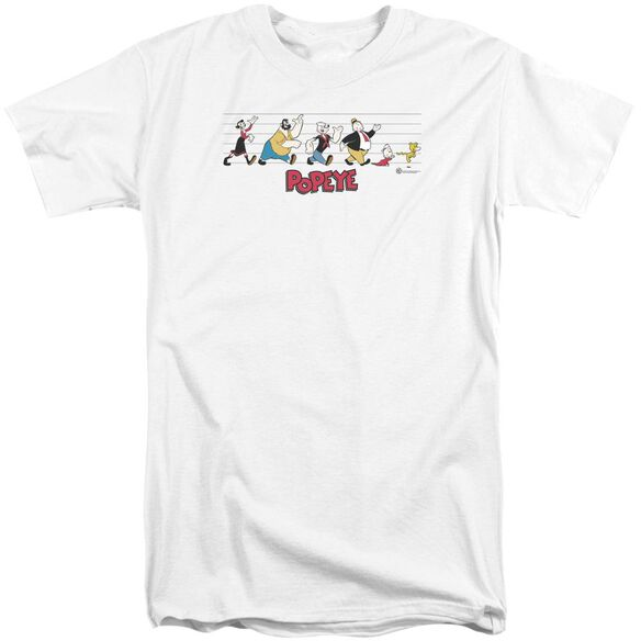 Popeye The Usual Suspects Short Sleeve Adult Tall T-Shirt