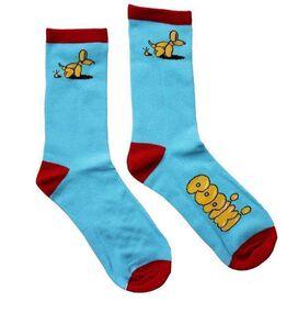 Popiki Squatting Dog Socks