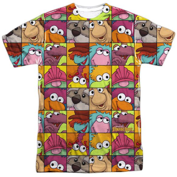 Fraggle Rock Character Squares Short Sleeve Adult Poly Crew T-Shirt