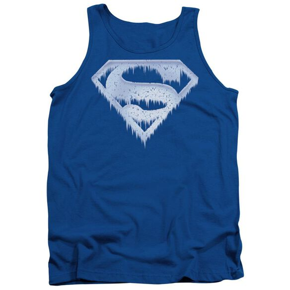Superman Ice And Snow Shield - Adult Tank - Royal Blue