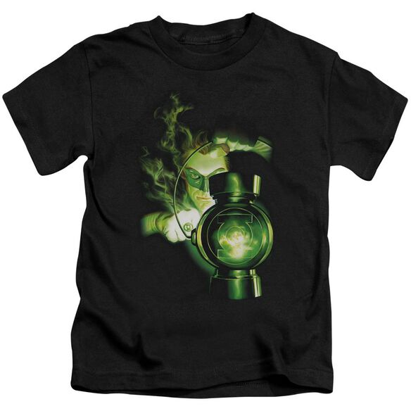 Green Lantern Lantern Light Short Sleeve Juvenile Black T-Shirt