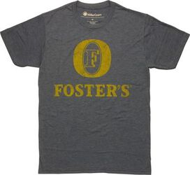 Fosters Distressed Yellow Label T-Shirt