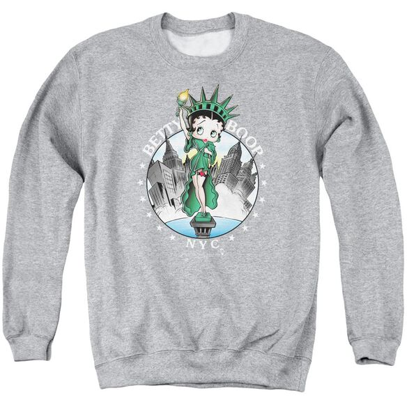 Betty Boop Nyc Adult Crewneck Sweatshirt Athletic