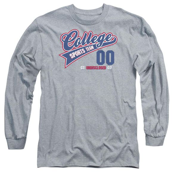 College Sports Team Long Sleeve Adult Athletic T-Shirt