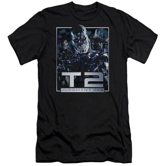 Terminator 2 T2 Robots Premuim Canvas Adult Slim Fit