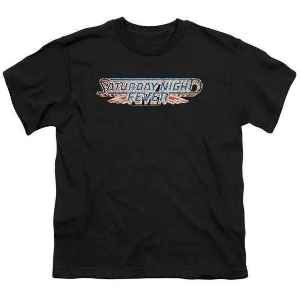 Saturday Night Fever Logo Short Sleeve Youth T-Shirt