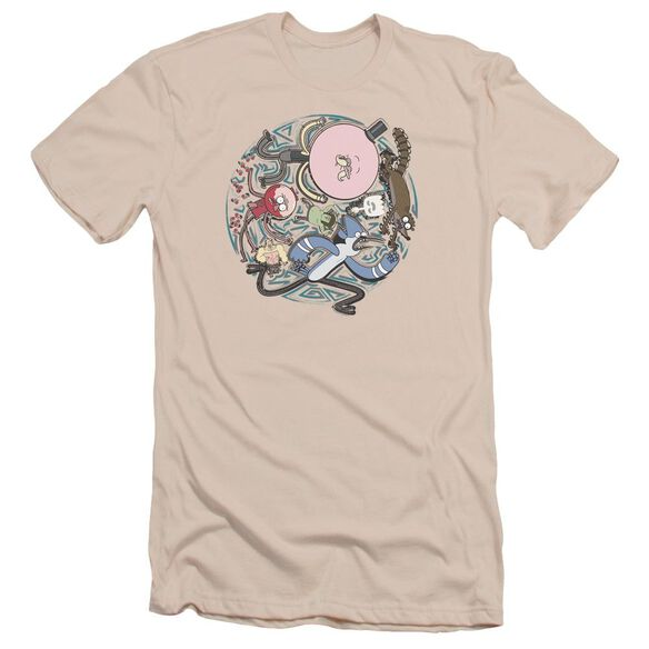 Regular Show Strange Circle Short Sleeve Adult T-Shirt