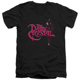 Dark Crystal Bright Logo Short Sleeve Adult V Neck T-Shirt