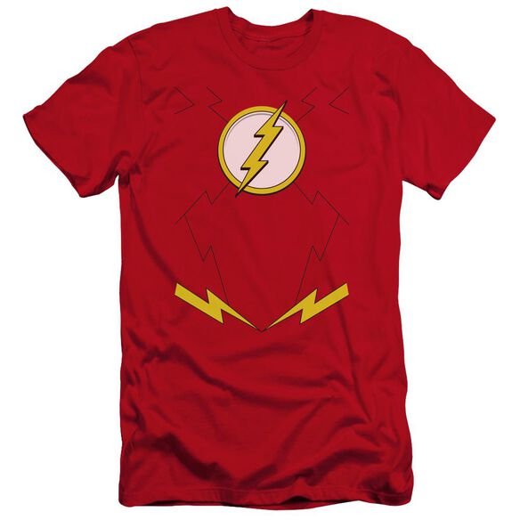 Jla New Flash Costume Premuim Canvas Adult Slim Fit