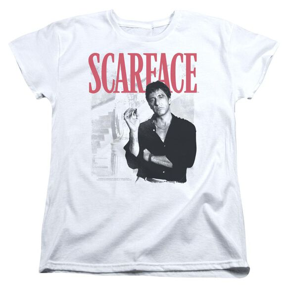Scarface Stairway Short Sleeve Womens Tee T-Shirt