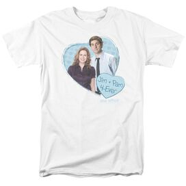 The Office Jim & Pam 4 Ever Short Sleeve Adult T-Shirt