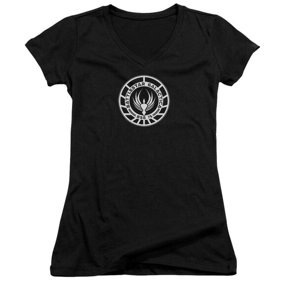 Bsg Galactica Badge - Junior V-neck - Black