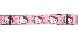 Hello Kitty Faces Hearts Wide Mesh Belt