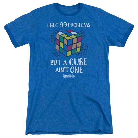 Rubiks Cube 99 Problems Adult Heather Ringer Royal Blue