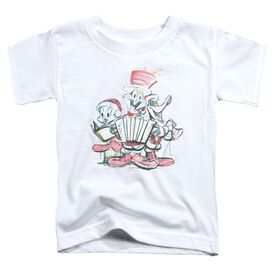 Looney Tunes Holiday Sketch Short Sleeve Toddler Tee White T-Shirt