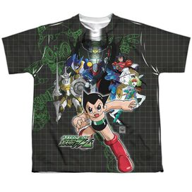 Astro Boy Group Short Sleeve Youth Poly Crew T-Shirt