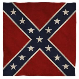 Old Confederate Flag Bandana White
