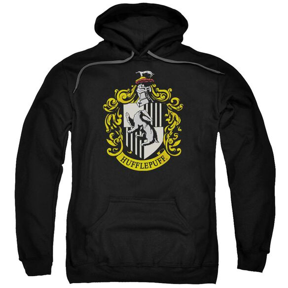 Harry Potter Hufflepuff Crest Adult Pull Over Hoodie