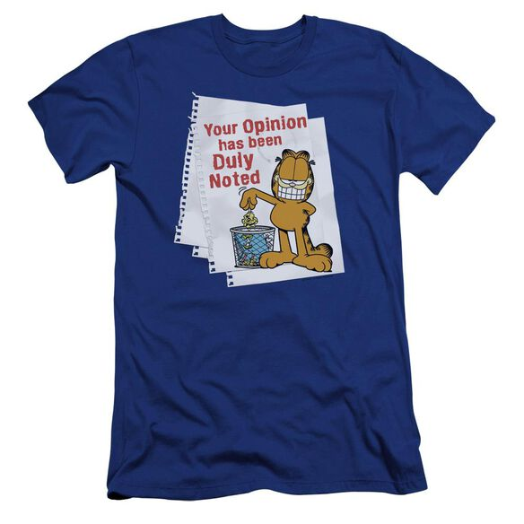 Garfield Duly Noted Premuim Canvas Adult Slim Fit Royal