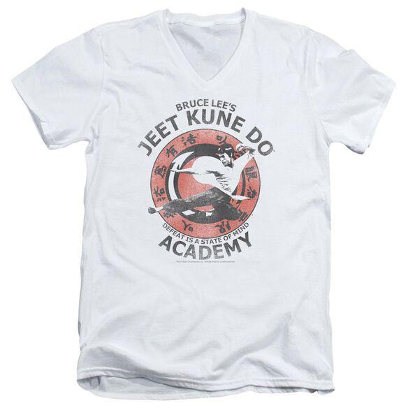 Bruce Lee Jeet Kune Short Sleeve Adult V Neck T-Shirt