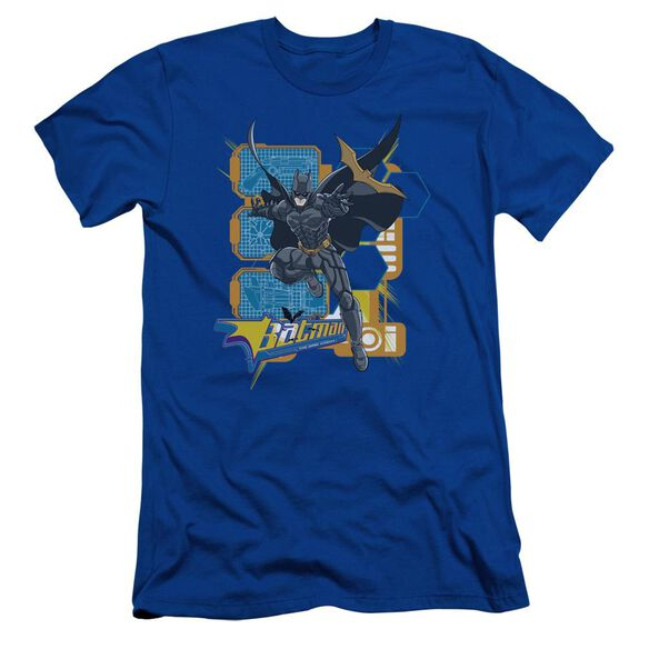 Dark Knight Batarang Tech Short Sleeve Adult Royal T-Shirt