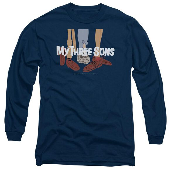 My Three Sons Shoes Logo Long Sleeve Adult T-Shirt