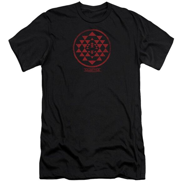 BSG RED SQUADRON PATCH - S/S ADULT 30/1 - BLACK T-Shirt