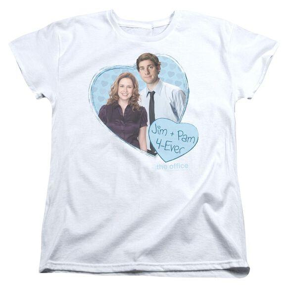 The Office Jim & Pam 4 Ever Short Sleeve Womens Tee T-Shirt