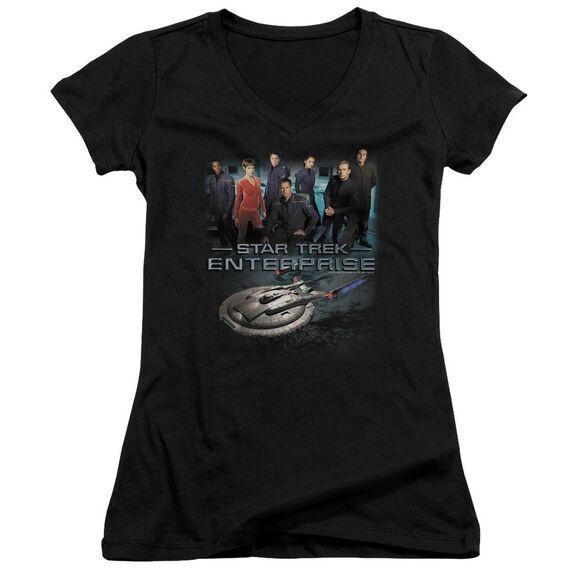 Star Trek Enterprise Crew Junior V Neck T-Shirt