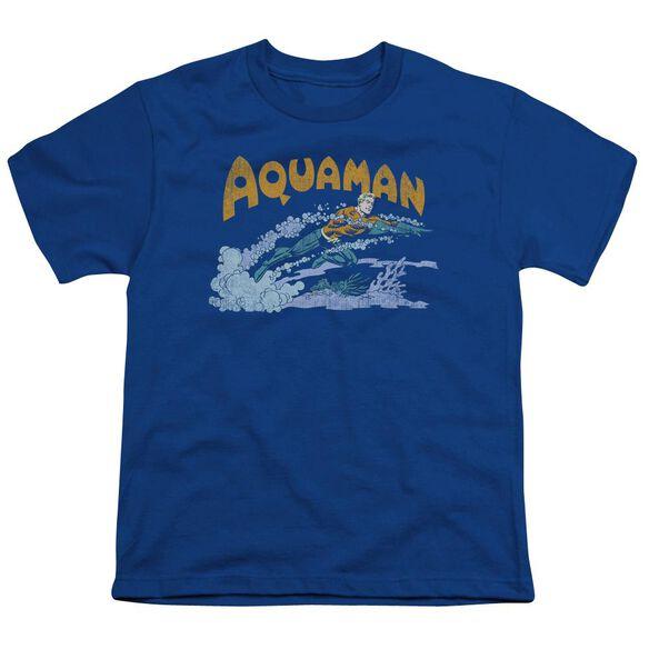 Dc Aqua Swim Short Sleeve Youth Royal T-Shirt