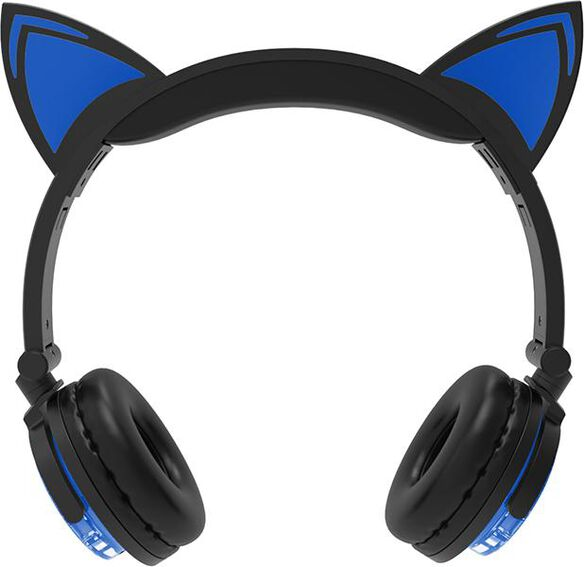Bluetooth Cat Ear Headphones [Blue]