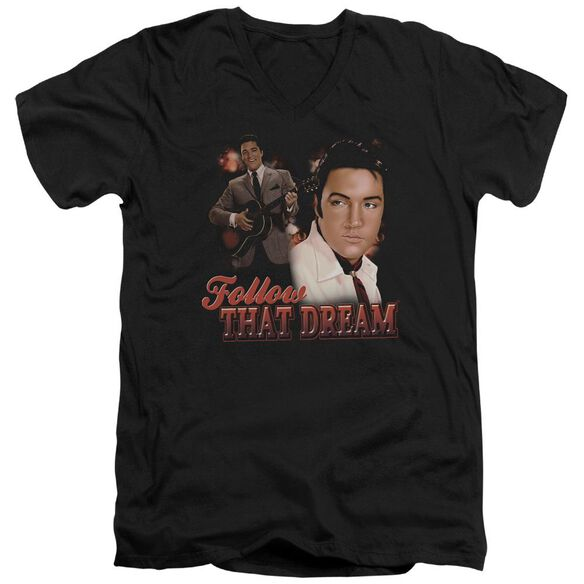 Elvis Follow That Dream Short Sleeve Adult V Neck T-Shirt