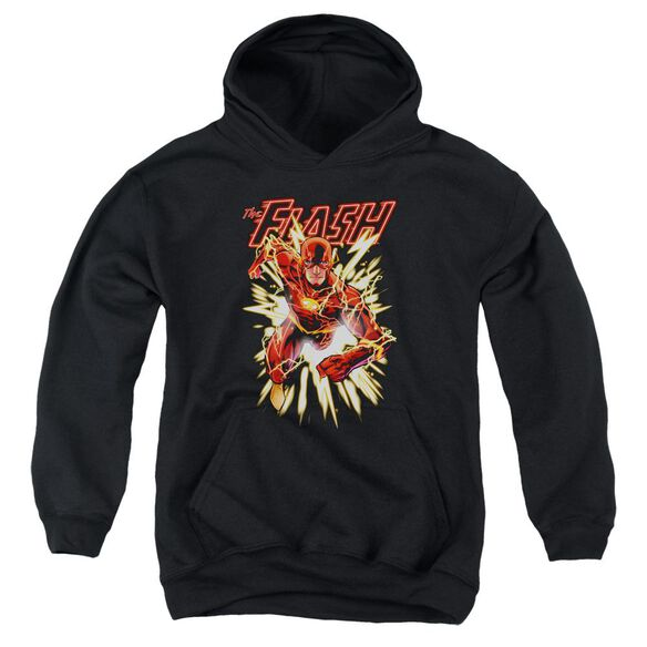 Jla Flash Glow Youth Pull Over Hoodie